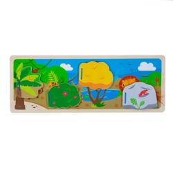 Bigjigs Toys Senzorické puzzle džungle