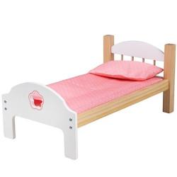 Bigjigs Toys Dřevěná postýlka pro panenky