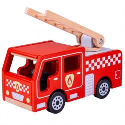 Bigjigs Toys Dřevěné hasičské auto