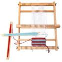 Tkalcovské stavy. šití, pletení