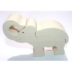 Fauna Dřevěné zvířátko slon