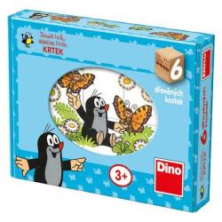 Dino Obrázkové kostky veselý Krtek 6 kostek