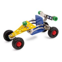 Small Foot Kovová stavebnice závodní auto