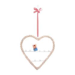 Small Foot Bytové dekorace proutěné srdce s držákem na fotografie