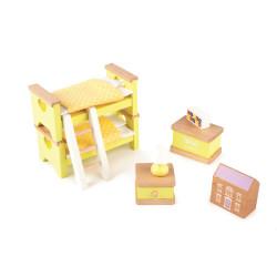 Tidlo Dřevěný nábytek dětský pokoj žlutý