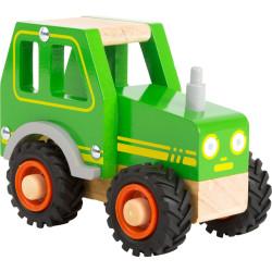 Small Foot Dřevěný traktor zelený