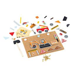 Bigjigs Toys Kreativní zatloukací hra doprava