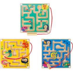 Magnetický labyrint Myš 1ks zelená