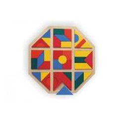 Dřevěná mozaika kosočtverec