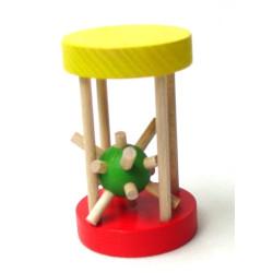 Dřevěný ježek v kleci malý
