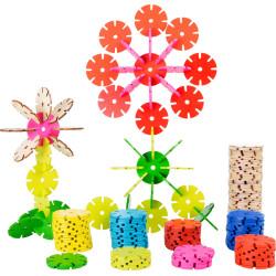 Small Foot Dřevěná spojovací hra květina sada 240 ks