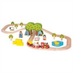 Bigjigs Rail Dřevěná vláčkodráha farma