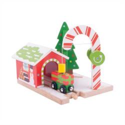 Bigjigs Rail Vánoční jeřáb