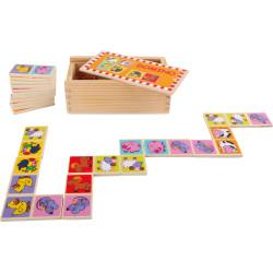 Small Foot Dřevěné hračky domino ZOO