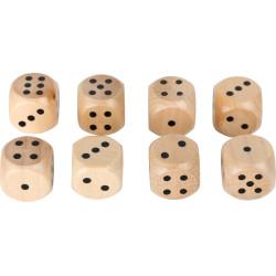 Small Foot Sada dřevěných herních kostek 8 ks