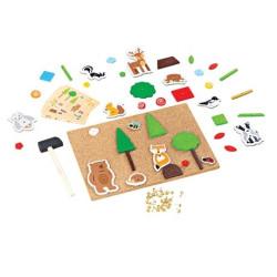 Bigjigs Toys Kreativní zatloukací hra život v lese