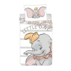 Jerry Fabrics povlečení Dumbo grey stripe, 140x200 70x90
