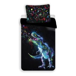 """Jerry Fabrics povlečení Dinosaur """"black"""", 140x200 70x90"""