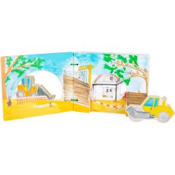 Small Foot Dřevěná knížka stavba