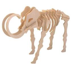 Woodcraft Dřevěné 3D puzzle mamut přírodní