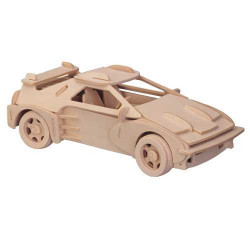 Woodcraft Dřevěné 3D puzzle malé Ferrari