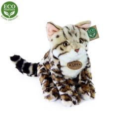 Rappa Plyšová kočka bengálská sedící 23 cm ECO-FRIENDLY