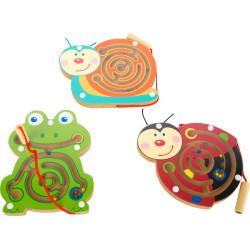 Magnetický labyrint zvířátka 1 ks Žabka