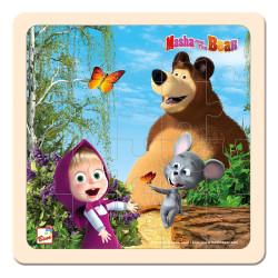 Bino Máša a Medvěd - Puzzle s myškou 20x20cm