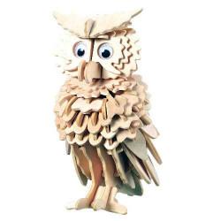 Woodcraft Dřevěné 3D puzzle sova