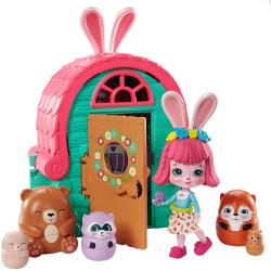 Mattel Enchatimals Tajné útočiště nejlepších přátel Bree Bunny Cabin
