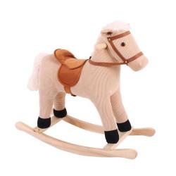 Bigjigs Toys Dřevěný houpací kůň béžový