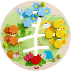 Haba Dřevěná motorická deska Květiny
