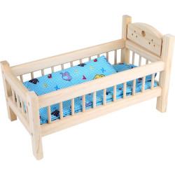 Small Foot Dřevěné hračky postýlka pro panenky přírodní