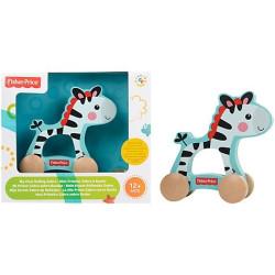 Fisher Price Moje první zebra na kolečkách dřevěná