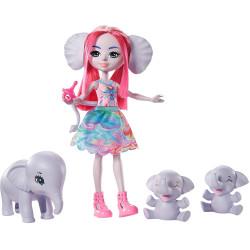 Mattel Enchantimals rodinka - Esmeralda Elephant se sloní rodinkou