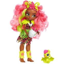 Mattel Cave Club panenka s dino zvířátkem Fernessa