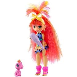 Mattel Cave Club panenka s dino zvířátkem Emberly