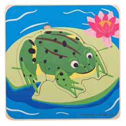 Bigjigs Toys Vkládací puzzle životní cykly žáby
