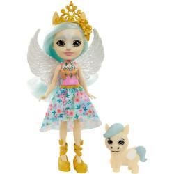 Mattel Royal Enchantimals Panenka se zvířátkem Paolina Pegasus & Wingley