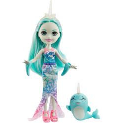 Mattel Royal Enchantimals Panenka se zvířátkem Naddie Narwhal & Sword