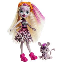 Mattel Enchantimals Panenka se zvířátkem Zadie Zebra & Ref