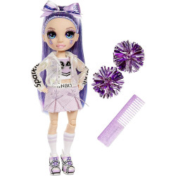 MGA Rainbow High Fashion panenka - Roztleskávačka Violet Willow