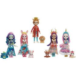 Mattel Royal Enchantimals 5 ks panenka se zvířátkem