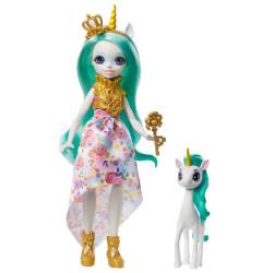 Mattel Royal Enchantimals Panenka se zvířátkem Queen Unity & Stepper
