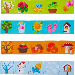 Haba dřevěné puzzle na učení Roční období 20 ks