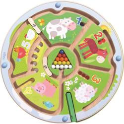Haba Magnetický labyrint s perem Farma Čísla