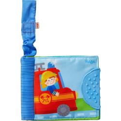Haba Textilní kniha pro miminka Záchranné vozy