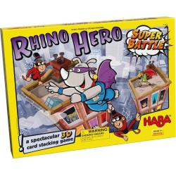 Společenská hra pro děti Rhino Hero Super Bitva Haba od 5 let