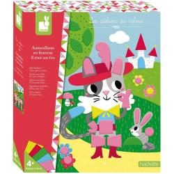 Kreativní hračky na tvoření Obrázky s plstěnými nálepkami Pohádky Janod Atelier Maxi