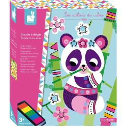 Kreativní hračky na tvoření Prstové barvy Panda a kamarádi Janod Atelier Sada Maxi
